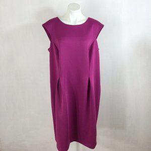 Calvin Klein Sheath Dress Fuchsia Solid Sleeveless